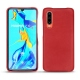 Huawei P30 leather cover - Rouge troupelenc