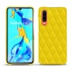 Huawei P30 leather cover - Jaune fluo - Couture