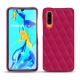 Huawei P30 leather cover - Rose fluo - Couture