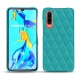 Huawei P30 leather cover - Bleu fluo - Couture