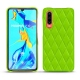 Huawei P30 leather cover - Vert fluo - Couture