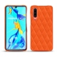 Huawei P30 leather cover - Orange fluo - Couture
