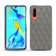 Huawei P30 leather cover - Acier vintage - Couture