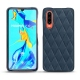 Huawei P30 leather cover - Jean vintage - Couture
