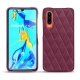 Huawei P30 leather cover - Prune vintage - Couture