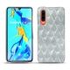 Huawei P30 leather cover - Platinium - Couture