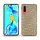 Huawei P30 leather cover - Autruche desert