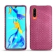 Huawei P30 leather cover - Serpent ciclamino