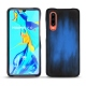 Huawei P30 leather cover - Bleu Patine
