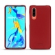 Huawei P30 leather cover - Rouge PU
