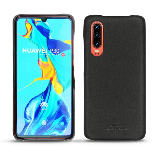 Huawei P30 leather cover - Noir PU