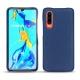 Huawei P30 leather cover - Bleu frisson