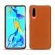 Huawei P30 leather cover - Orange vibrant