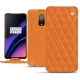 OnePlus 6T leather case - Orange - Couture ( Nappa - Pantone 1495U )