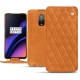 OnePlus 6T leather case - Mandarine vintage - Couture