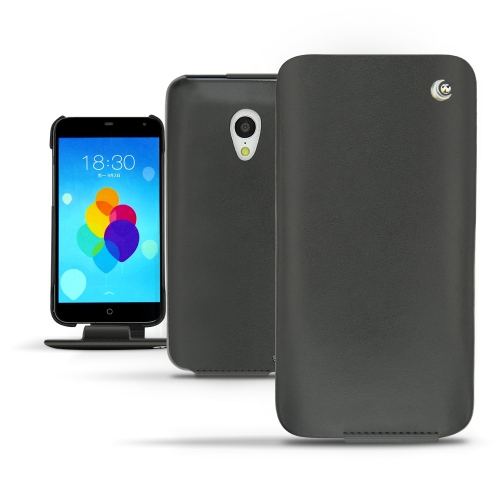 Oppo Find 7  leather case - Noir ( Nappa - Black )