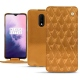 Funda de piel OnePlus 7 - Or Maïa - Couture