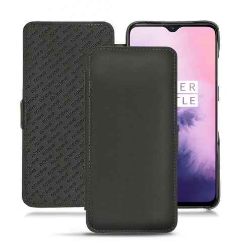 OnePlus 7 leather case - Noir PU