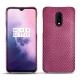 OnePlus 7 leather cover - Serpent ciclamino