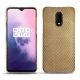 OnePlus 7 leather cover - Serpent sabbia