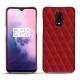 Funda de piel OnePlus 7 - Rouge - Couture ( Nappa - Pantone 199C )