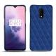 Funda de piel OnePlus 7 - Bleu océan - Couture ( Nappa - Pantone 293C )