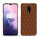 Custodia in pelle OnePlus 7 - Marron - Couture ( Nappa - Pantone 1615C )