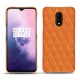 Coque cuir OnePlus 7 - Orange - Couture ( Nappa - Pantone 1495U )