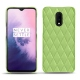 OnePlus 7 leather cover - Vert olive - Couture ( Nappa - Pantone 578U )
