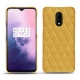 OnePlus 7 leather cover - Mimosa - Couture ( Pantone 141C )