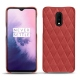 OnePlus 7 leather cover - Cerise vintage - Couture