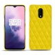 OnePlus 7 leather cover - Jaune fluo - Couture