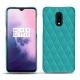 Funda de piel OnePlus 7 - Bleu fluo - Couture