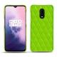 Funda de piel OnePlus 7 - Vert fluo - Couture