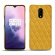 OnePlus 7 leather cover - Jaune soulèu - Couture