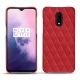 OnePlus 7 leather cover - Rouge troupelenc - Couture