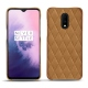 OnePlus 7 leather cover - Castan esparciate - Couture