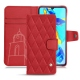 Huawei P30 leather case - Rouge troupelenc - Couture