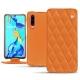 Huawei P30 leather case - Orange - Couture ( Nappa - Pantone 1495U )