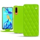 Housse cuir Huawei P30 - Vert fluo - Couture