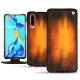 Huawei P30 leather case - Fauve Patine