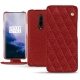 OnePlus 7 Pro leather case - Tomate - Couture ( Pantone 187C )