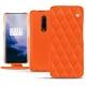 OnePlus 7 Pro leather case - Orange fluo - Couture
