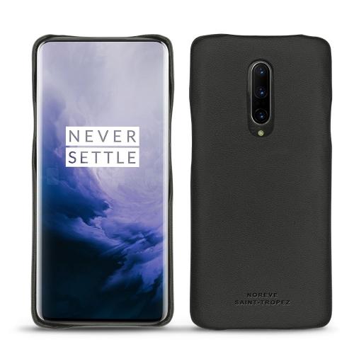 Coque cuir OnePlus 7 Pro - Noir PU