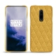 Coque cuir OnePlus 7 Pro - Mimosa - Couture ( Pantone 141C )