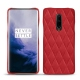Coque cuir OnePlus 7 Pro - Rouge troupelenc - Couture