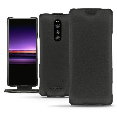 Sony Xperia 1 leather case - Noir PU