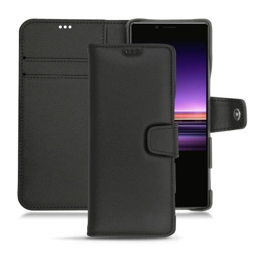 Custodia in pelle Sony Xperia 1 - Noir PU