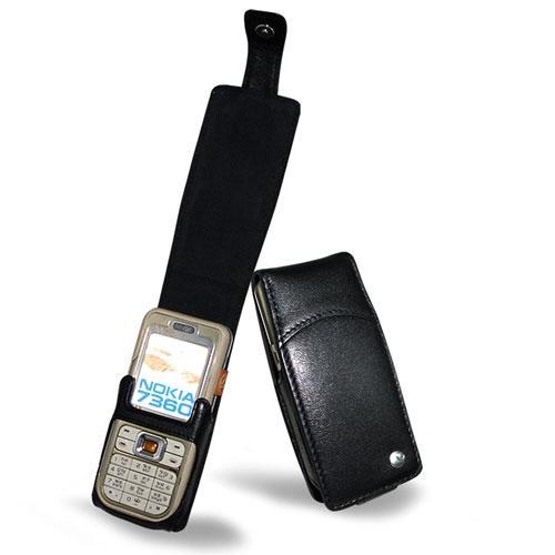 Nokia 7360  leather case - Noir ( Nappa - Black )