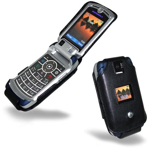 Motorola RAZR V3x  leather case